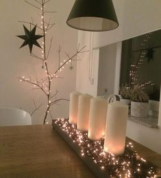 deco-candles-advent-with-lights-chain # christmas decoration-glass deco-candles-advent-with-lights-chain You are in the right place about DIY Christmas candles Here we offer you the most beautiful pic Natural Christmas, Christmas Ad, Christmas Candles, Christmas Ornaments, Christmas Costumes, Christmas Paper, Outside Christmas Decorations, Light Chain, Diy Crafts To Do