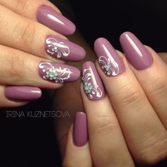 Фотография -  - #Genel Colorful Nail Designs, Nail Designs Spring, Acrylic Nail Designs, Nail Art Designs, Elegant Nail Art, Beautiful Nail Art, Burgundy Nails, Purple Nails, Cute Nails