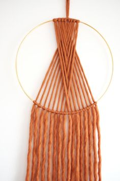 Macrame Mania – The Age-Aged Artwork Of Knotting Is Back With A Haute Couture Flavor – By Zazok Macrame Wall Hanging Diy, Handmade Wall Hanging, Macrame Art, Macrame Design, Macrame Projects, Tapestry Wall Hanging, Hanging Beds, Hanging Chairs, Diy Wall Art