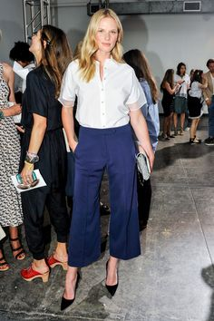 Anne V in Nonoo - Front Row at Nonoo Spring 2015 #nyfw
