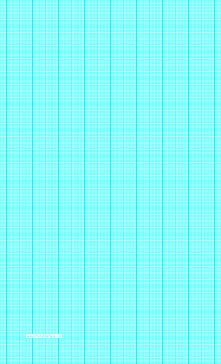 This legal-sized graph paper has eighteen aqua blue lines every inch plus heavy index lines every inch. Free to download and print