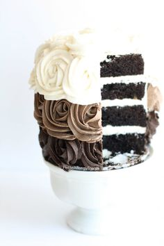 Chocolate Rose Cake recipe (gluten free vegan) Gorgeous dairy free roses adorn this decadent chocolate cake. Food allergy friendly- egg free soy free nut free #EatFreely #ad