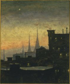 New York Rooftops by Louis Michel Eilshemius (1864-1941)