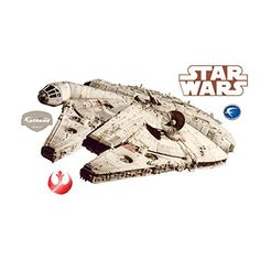 Millenium Falcon REALBIG Peel and Stick @ niftywarehouse.com #NiftyWarehouse #Geek #Products #StarWars #Movies #Film