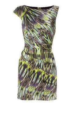 Karen Millen Marble Print Ruched Dress [#KMM112] - $86.19 :
