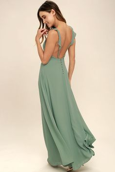 cac16f8be8 8 Best Sage green maxi dress images