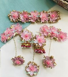 Flower Jewellery For Mehndi, Flower Jewelry, Wedding Jewelry, Gift For Raksha Bandhan, Dengue Fever, Bridal Jumpsuit, Jewelry Design Earrings, Delicate Jewelry, Etsy Jewelry