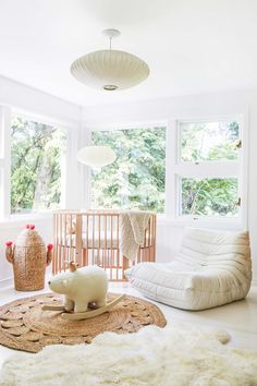 REID ROLLS PHOTOGRAPHY | house beautiful - leanne ford | 15 Interior Design Inspiration, Room Inspiration, Design Ideas, Ford Interior, Style Me Pretty Living, Wicker Dining Chairs, Pretty Kids, Nursery Room, Baby Room