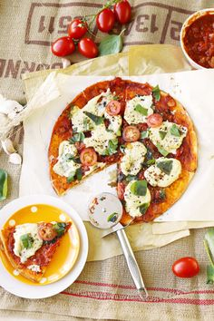 Vegan Margherita Pizza - simple, delicious, hearty, satisfying… all without the guilt. Made with homemade tomato sauce and homemade vegan mozzarella.
