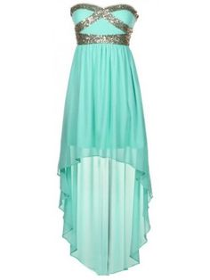 Sweetheart Sequin High-Low Dress... Matt lets go somewhere that warrants me to wear this Want these