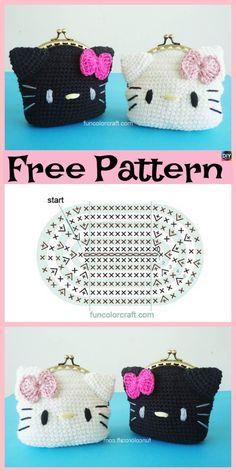 49ebd1f3d6b9e Hello kitty crochet purse. I m not that good at following charts but ...