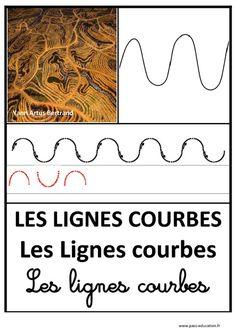Lignes courbes – Graphisme – Affichages pour la classe – Maternelle – PS – MS – GS – Pass Education