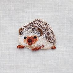 hedgehog embroidery
