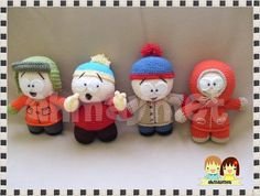 South Park Set  Amigurumi Dolls Patterns in by AmigurumiByAhmaymet, $14.99