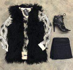 Miss Royal Vest {Black} Furry vest -CHECK- got it for my bday! 2016