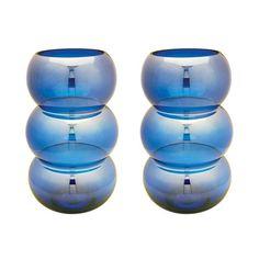 Lazy Susan 464075/S2 Cobalt Ring Votive - Set Of 2