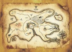Old Pirate Map   Old Pirate Map by ~tbby on deviantART