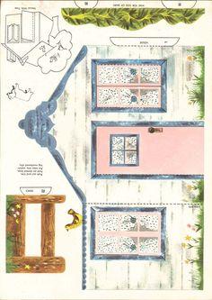 Képtalálat a következőre: Printable Templates for Putz Houses Paper Doll House, Paper Houses, 3d Paper, Paper Toys, House Template, Putz Houses, Glitter Houses, Christmas Villages, Paper Models