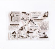 Yoga stamps Fitness planner stamps Planner sets Yoga | Etsy