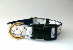 Nautical Dog Collar, Width 1