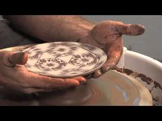 Ceramic Arts Daily – How to Screen Print Pattern on the Inside of a Wheel Thrown Bowl