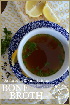 BONE BROTH filled with vitamins and minerals