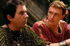 Erastes Fulmen (Lorcan Cranitch) and Vorenus discuss business. Erastes becomes a major crime lord after Pompey abandons the city.