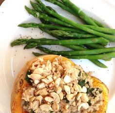 Butternut Squash Stuffed with Fragrant Rice