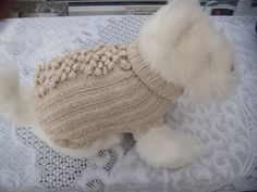 Dog jumper Cat jumper  Dog clothes apparel  beige por CUTIEDOG, £12.50