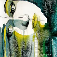 I think I need to own this one... Incredible piece of art...Green&Yellow by http://rebekkaivacson.blogspot.com/