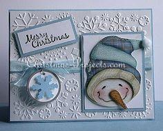 pinterest cards | Christmas Card Craft for the Holidays - Cheerful Snowman Card