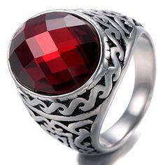 0ed18ccb472a7a Vintage Garnet Rings, Gold And Silver Rings, Red Garnet, Cushion Cut, Men's  Jewelry, Vintage Men, Vintage Patterns, Rings For Men, Manish