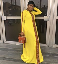 """Fashion designer,stylist on Instagram: """"I have been busy responding to all the compliments i got from wearing this gorgeous dress today ☺️I am so excited and typing this with all…"""" Long African Dresses, Latest African Fashion Dresses, African Print Fashion, African Attire, African Wear, Abaya Fashion, Fashion Outfits, Ankara Dress Styles, African Traditional Dresses"""