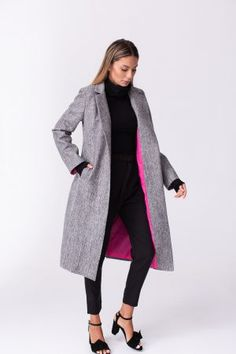the slim coat Day Dresses, Dress Outfits, Falling Stars, Cold Day, Back To Black, Mix Match, Duster Coat, Overalls, Slim