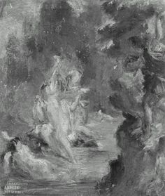 Summer Diana Surprised at her Bath by Actaeon - Eugene Delacroix - Completion Date: 1822