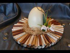 Frühlingsdeko und Osterdeko basteln aus Buchseiten / tinker spring decoration - YouTube