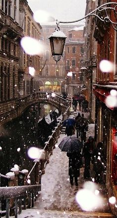 Snow in Venice I would go to Venice in the winter to see the city in the snow.