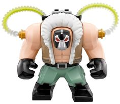 Bane is an enemy of Batman's.He appeared in the Batman theme in 2007 and made a return appearance in the 2012 theme, Super Heroes. 2013 featured Bane in a costume based on his appearance in the film The Dark Knight Rises. 2007 Bane is made out of three LEGO pieces, a head, a torso, and legs. Bane's head is a Black with Silver printing and large Red eyes to represent his luchador mask. Bane also has printing on the back of his head, there are Green tubes which lead down his back and in...