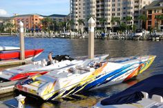fastest boat | nor tech high performance go fast boat is tied up at the docks of ...