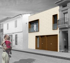 habitarqestudio_proyectos: 09_ vivienda unifamiliar entre medianeras_ Moncada