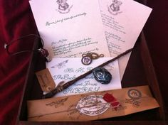 Complete Wizard Kit, Harry Potter inspired, Magic Wand, Hogwarts Letter, House Medallion, Potion Bottle, Dragon Egg