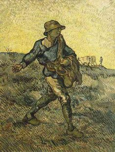 Friends of Vincent (@VanGoghADay) | Twitter  The Sower (after Millet) Oil on canvas Saint-Rémy: Late October, 1889 Collection Niarchos