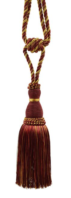 Elegant Wine deep Red Gold Curtain & Drapery Tassel Tieback