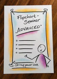 Flipchart-Seminare und Workshops - Termine und Informationen zu meinen Veranstaltungen. Lernen Sie, wie Sie am Flipchart lesbar schreiben und mit einfachen Mitteln visuell ansprechende Flipchartbilder gestalten können. Neu bei mir im Programm ist ein Whiteboard-Workshop.
