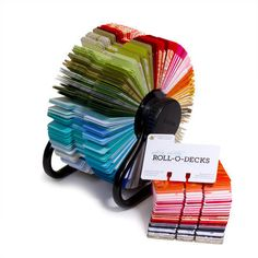 Just in case I ever decide to go back to a rolodex. this one is awesome! Craft Room Storage, Room Organization, Craft Rooms, Storage Ideas, Paper Crafts, Diy Crafts, Organizing Crafts, Book Crafts, Rolodex