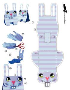 KROKOTAK PRINT! | printables for kids easter bunny box