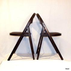 Antique Solid Komfort Wood Folding Chair Set by beep3 on Etsy, $135.00 #Eveteam #FinestVintageOnline