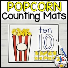 Popcorn Counting Mats by ABC's of Literacy | Teachers Pay Teachers