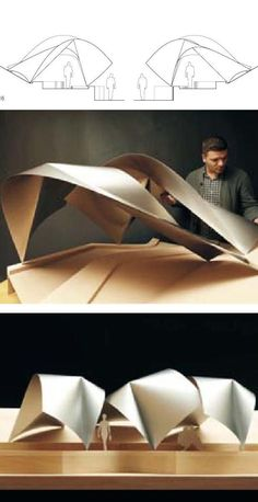 modern architecture and design Folding Architecture, Concept Models Architecture, Architecture Model Making, Pavilion Architecture, Organic Architecture, Futuristic Architecture, Interior Architecture, Interior Design, Arch Model