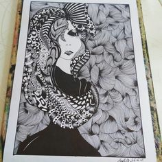 black and white alien girl :)